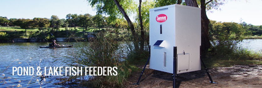 Pond lake fish feeders sweeney feeders for Fish feeders for ponds